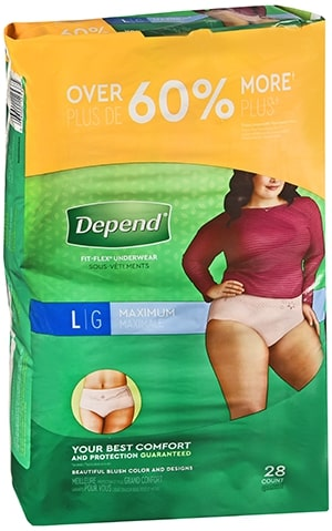 Depend Adult Diapers - Large
